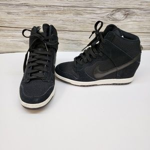 Nike Black Dunk Sky High Hidden Wedge Sneakers